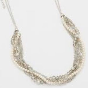 Maurices Twisted Chain and Faux Pearl Necklace